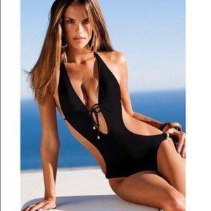 Victoria's Secret Black MONOKINI Swimsuit One Piec